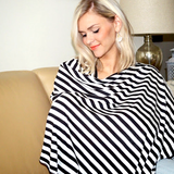 Black and White Stripe Nursing Poncho - meNmommy.com  - 4