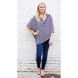 Black and White Stripe Nursing Poncho - meNmommy.com  - 1