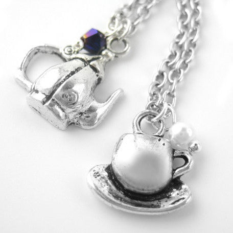 Teapot Necklace Set