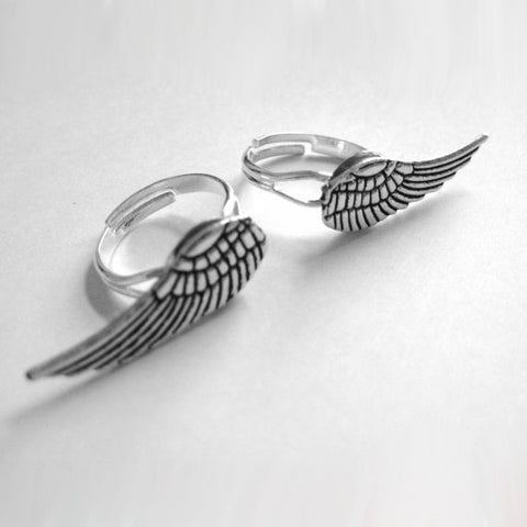 Best Friend Wing Ring Set