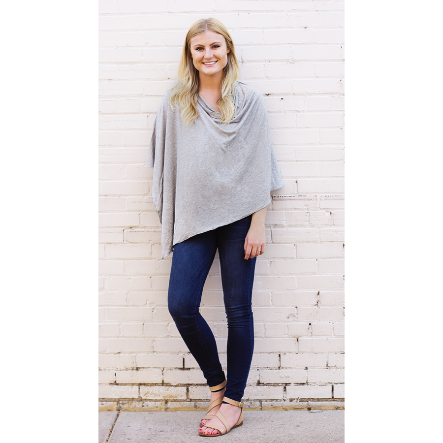 Light Grey Nursing Poncho - meNmommy.com  - 1