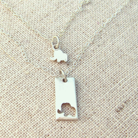 Little Elephant Necklace Set