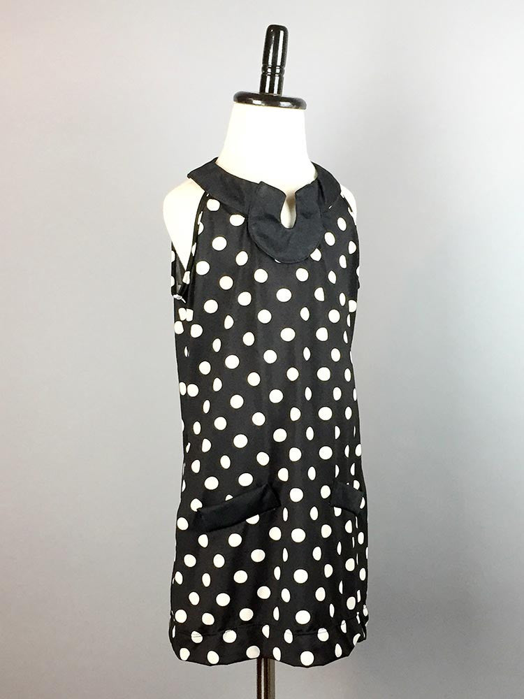 Amaranth Polka Dot Dress Jr - meNmommy.com  - 1