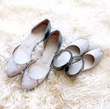 Reese D'Orsay Flats - Snake and Pewter - meNmommy.com  - 2