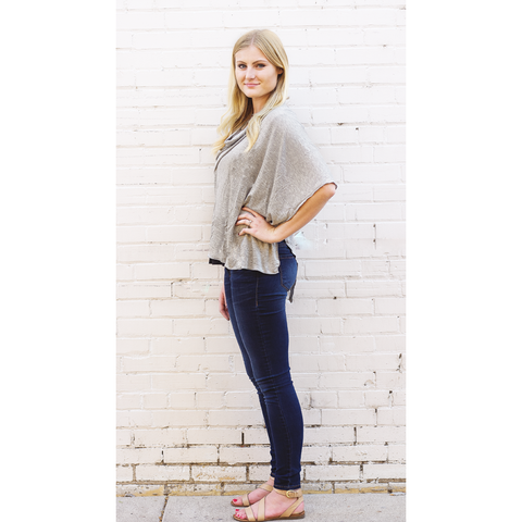 Light Grey Nursing Poncho