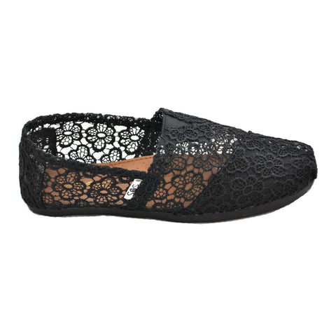 Black Crochet Womens