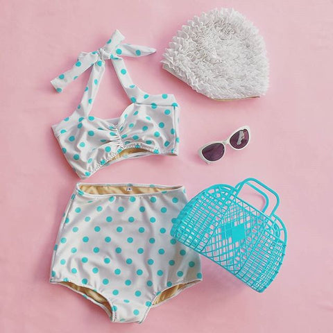 Candy Dots High Waist Bikini