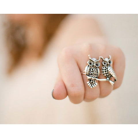 Twin Owl Ring