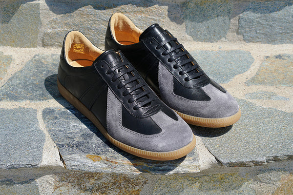 The Sport Trainer in Black Calfskin & Grey Suede