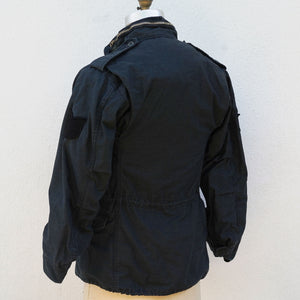 Indigo Dyed Vintage 1970s Military Jacket Size 36 Regular