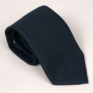 Necktie in Loro Piana S150s Black Herringbone Wool