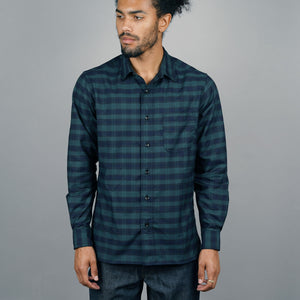 Chainstitch Shirt Thomas Mason Blackwatch Tartan