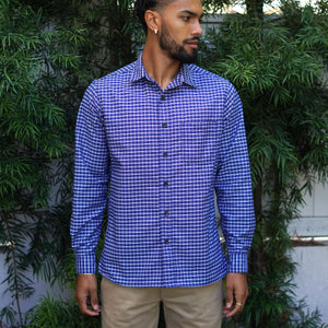 Chainstitch Shirt Thomas Mason Oxford Navy Graph Check