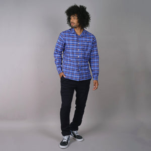 Chainstitch Shirt Thomas Mason Oxford Blue Thunder Tartan