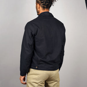 Bomber Jacket Navy Mid-Weight Moleskin