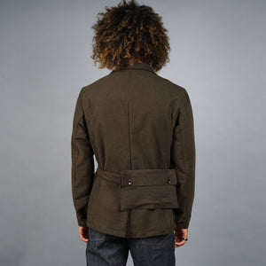 Safari Jacket in Brisbane Moss Chocolate Moleskin