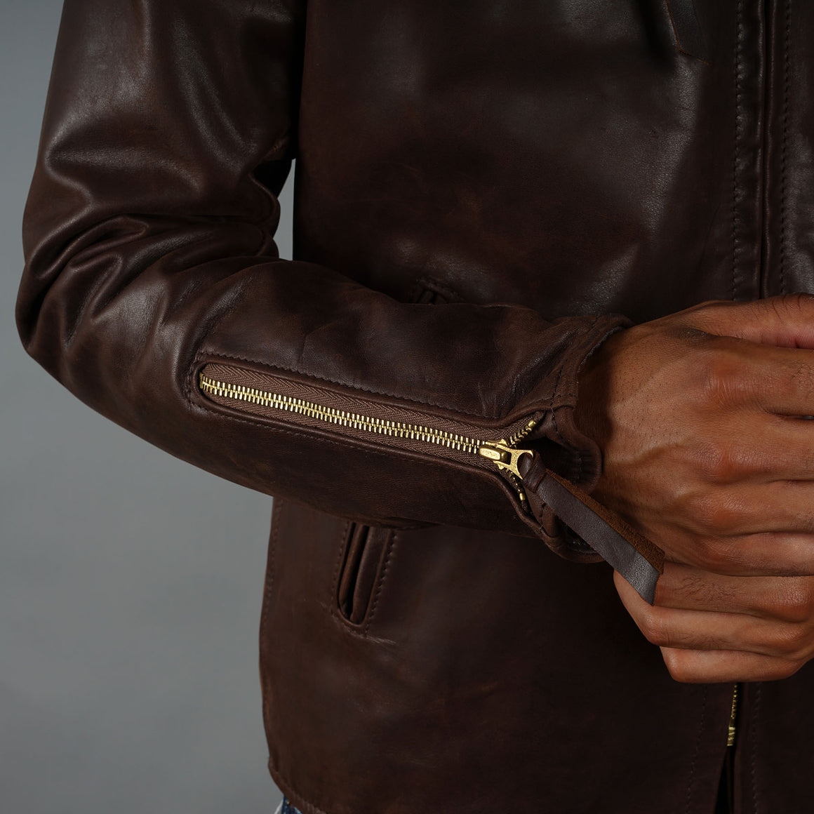 Made to Order Leather Cafe Racer Jacket