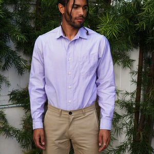 Chainstitch Shirt Thomas Mason Lavender Oxford