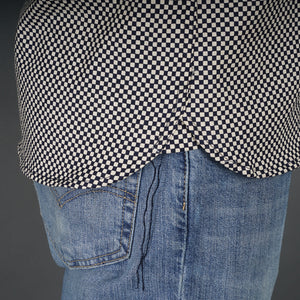 Chainstitch Shirt Mini Checkerboard Print Japanese Poplin