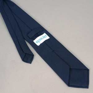 Necktie in Loro Piana S150s Marine Crosshatch Wool