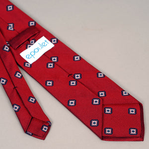 Necktie in Crimson Diamonds Silk