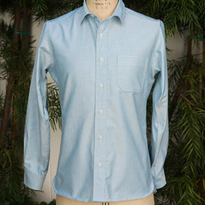 Chainstitch Shirt Thomas Mason Ocean Blue Oxford