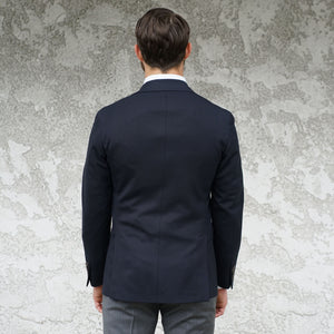 Sample Sale: Dartmouth Unconstructed Sportcoat in Navy Wool Hopsack Size 41