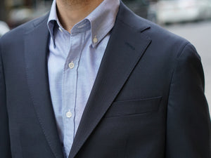 Sample Sale: Dartmouth Unconstructed Sportcoat in Navy Wool Hopsack