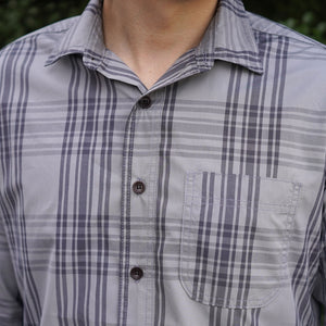 Chainstitch Shirt Thomas Mason Poplin Dove Grey Plaid