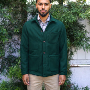 Doyle Jacket Hunter Green Wool Melton