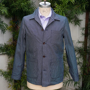 Doyle Jacket Indigo Wabash Ticking Stripe