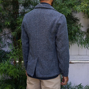 Doyle Jacket Reid & Taylor Steel Blue Linear Tweed