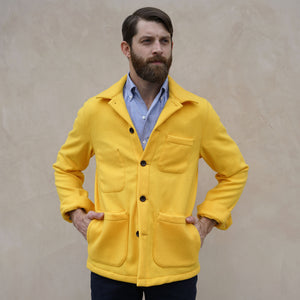 "Doyle Jacket ""Banana Yellow"" Melton Wool Project"