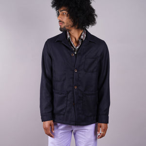 Doyle Jacket Navy Hardy Minnis Wool Fresco