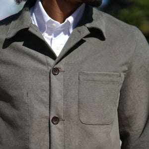 Doyle Jacket UK Mist Cotton Moleskin