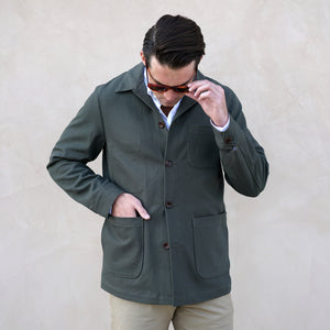 Doyle Jacket 12oz Olive Duck Canvas