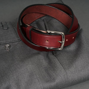 Dress Belt Burgundy Steerhide