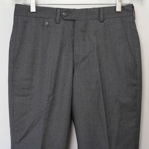 Sample Sale: Driggs Trouser in Grey Worsted Dress Wool, Size 29