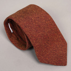 Necktie in Di Pray Fall Flames Wool-Silk Donegal