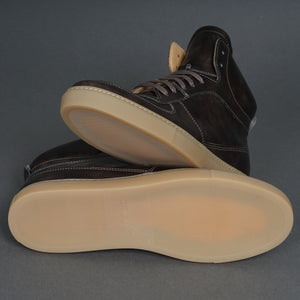 Full Court Trainer Gunmetal Museum Calf
