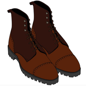 Urban Commando Antelope Leather Boot DEPOSIT