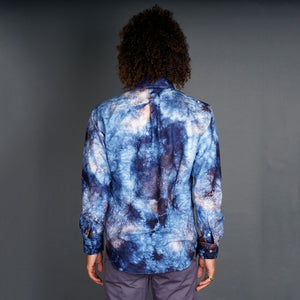 Galactic Wash Indigo Hand-Dyed Oxford Shirt