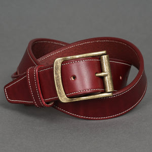Gaucho Belt Burgundy Steerhide