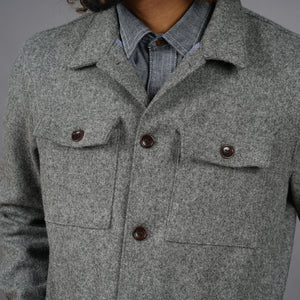 Fatigue Jacket in Oxford Grey Wool Melton
