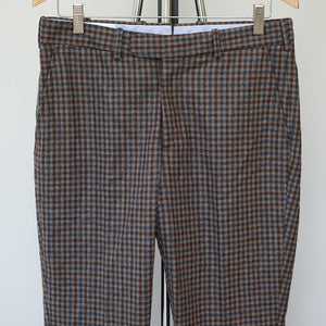 Sample Sale: Walt Trouser in Tobacco Guncheck Size 32