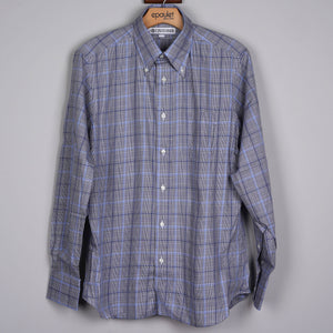 Sample Sale: Shirt S120's Grey Glen Check Size Medium