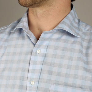 Sky & Dove Gingham Check Shirt