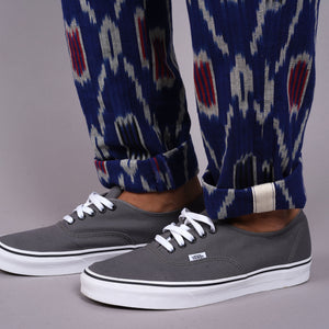Rivet Chino Hand-Woven Indigo Ikat Cotton