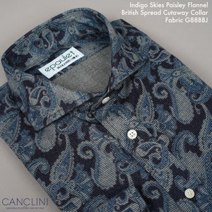Custom Shirting Canclini Flannel, Cord, Poplin Prints