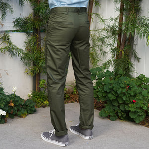 Rivet Chino Jungle Cotton Poplin Olive